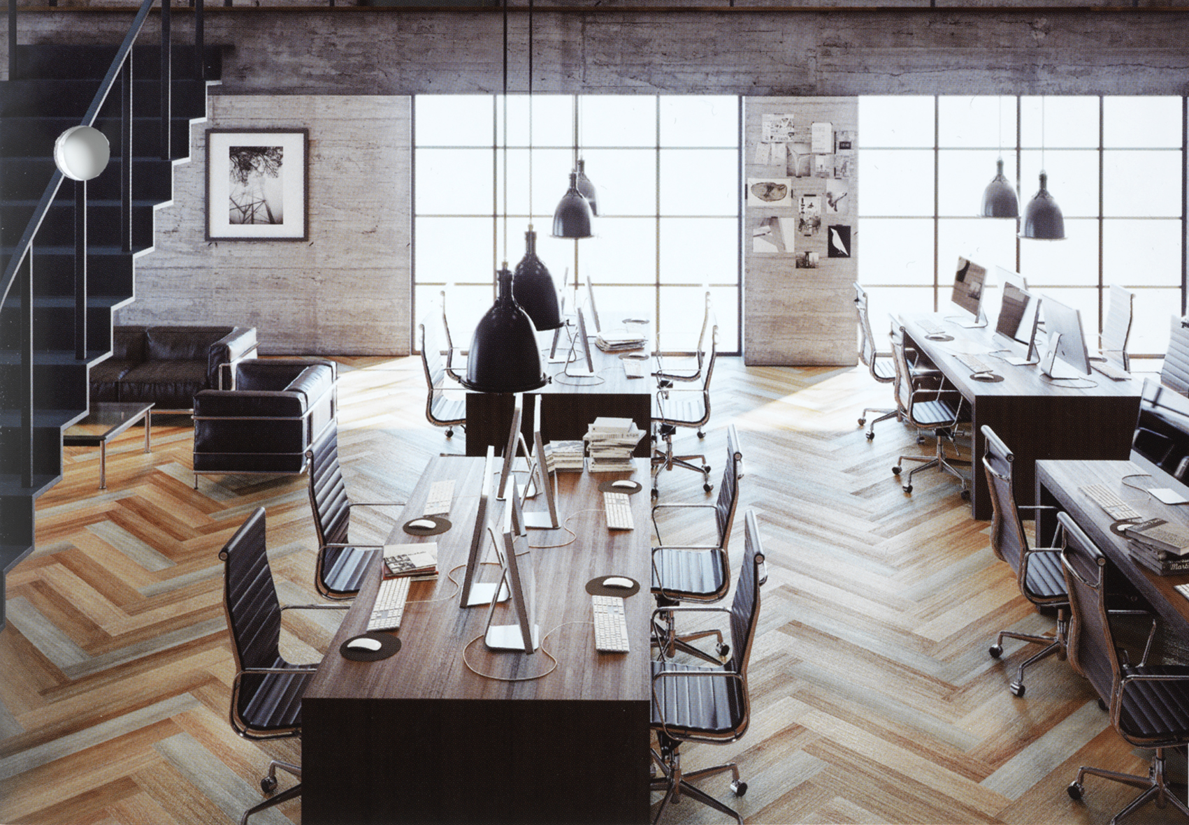 Commerciële bureauvloer